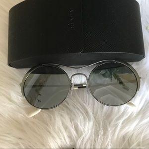 Authentic Prada 53mm round sunglasses